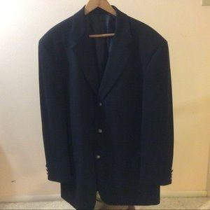 Hugo Boss black wool sport coat 44L